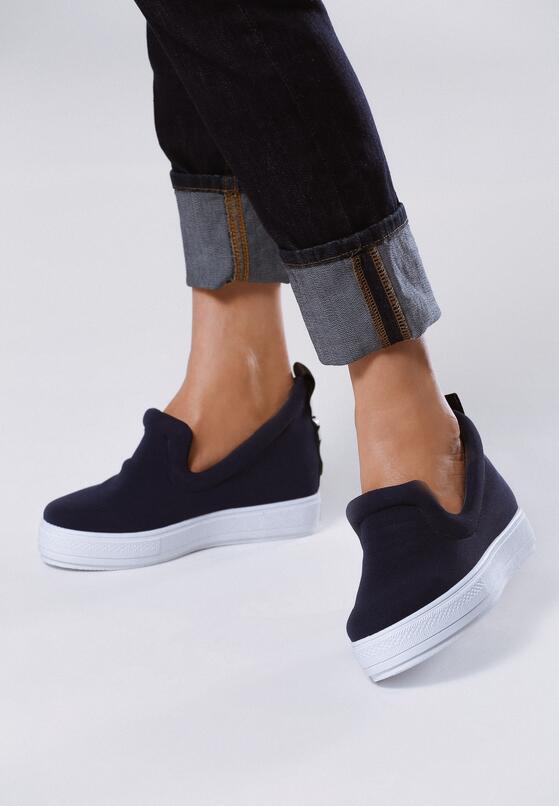 Granatowe Sneakersy Libra