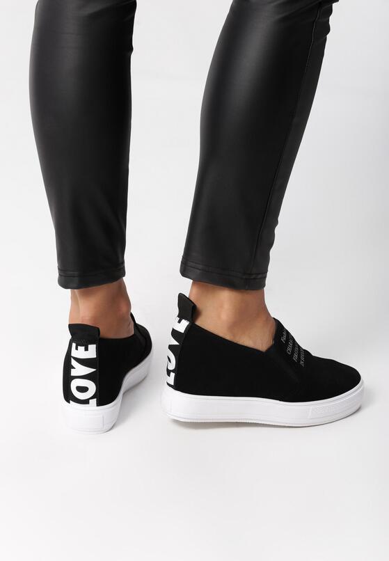 Czarne Sneakersy Leo