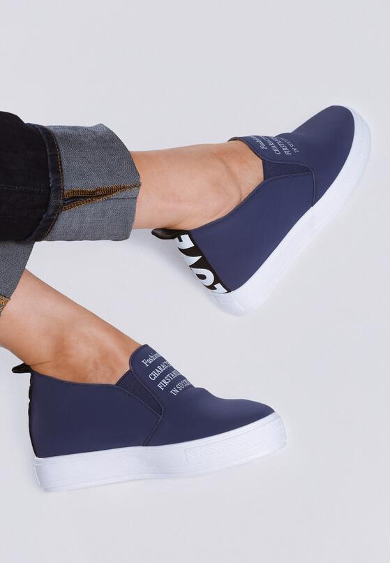 Granatowe Sneakersy Leo
