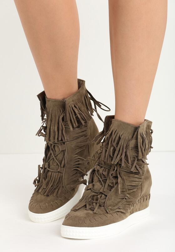 Khaki Sneakersy Ginny