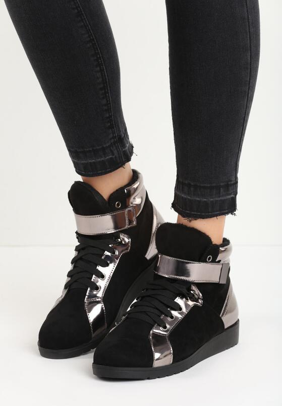 Czarne Sneakersy Stit