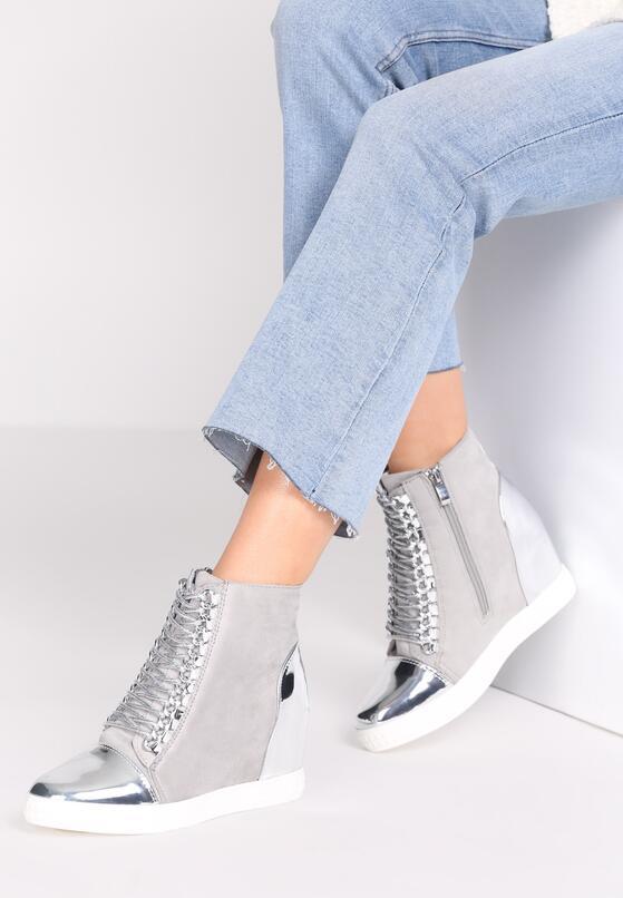 Szare Sneakersy Dino