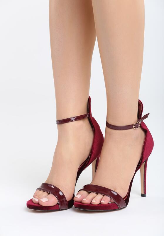 Bordowe Sandały Alubi
