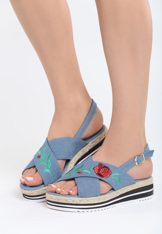 Niebieskie Sandały Arigota