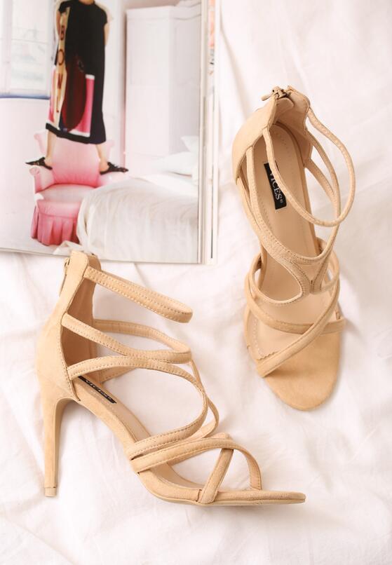 Beżowe Sandały Glorious