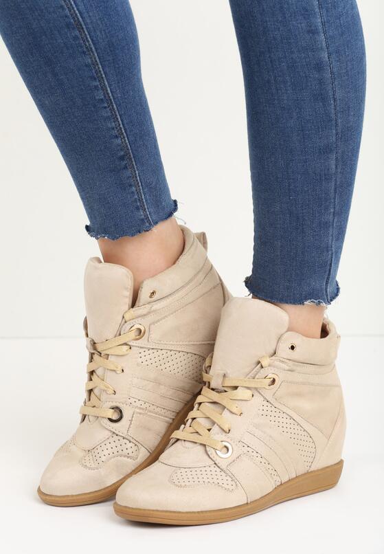 Beżowe Sneakersy Terab