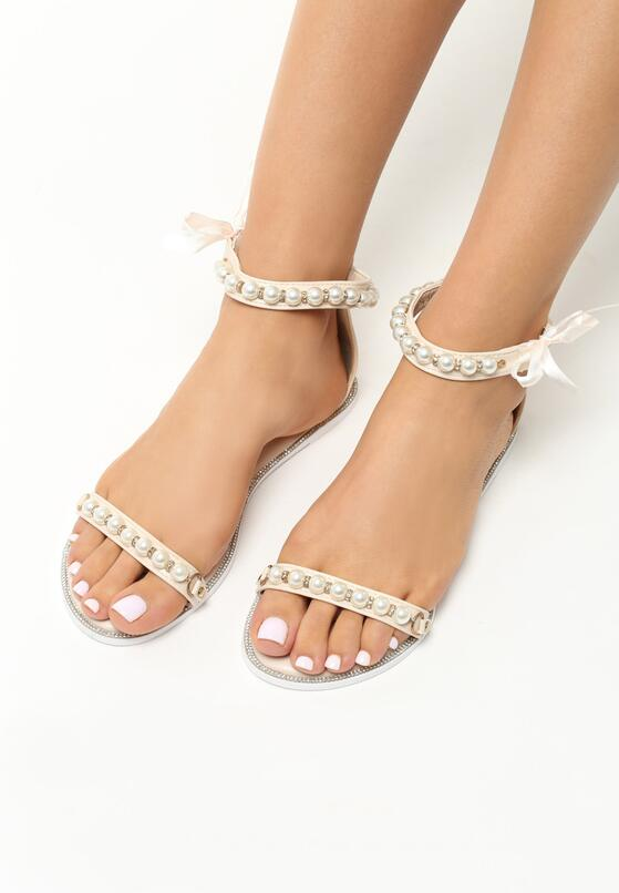 Beżowe Sandały Diva