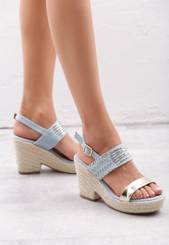 Jasnoniebieskie Sandały Sexy Back