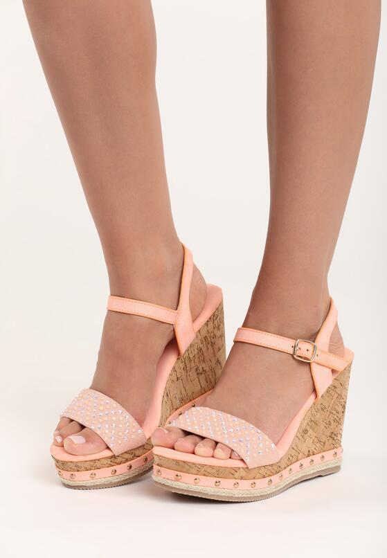 Pomarańczowe Sandały Strive