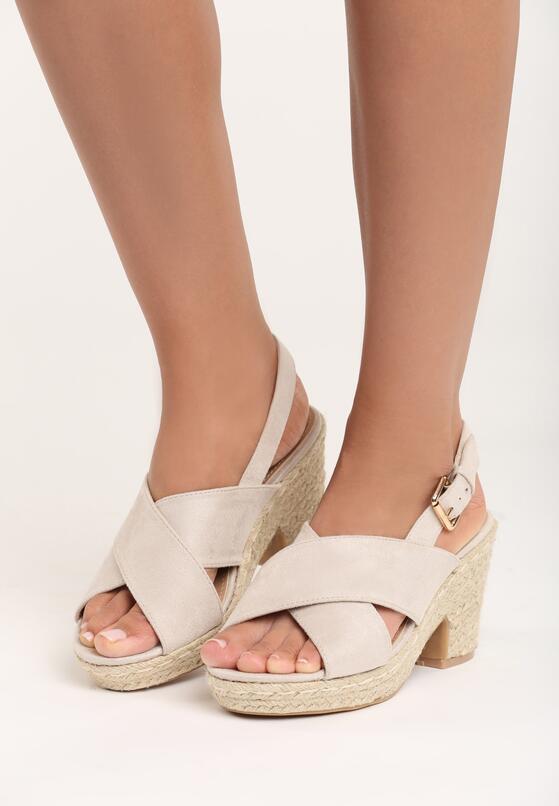 Jasnobeżowe Sandały Madame