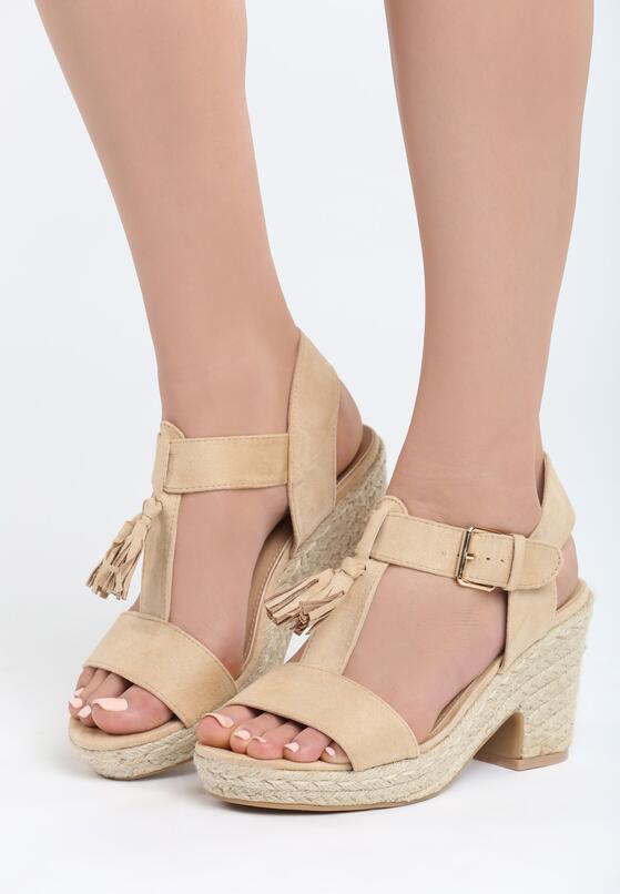 Beżowe Sandały Impression