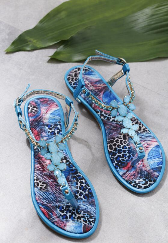 Niebieskie Sandały Ember