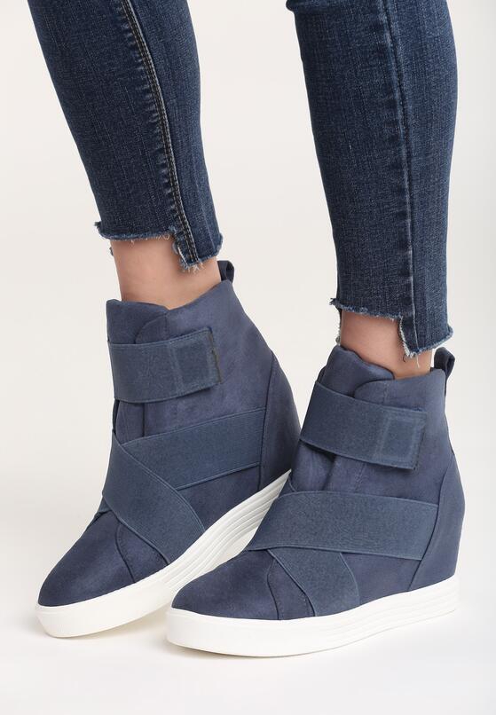 Granatowe Sneakersy Merni