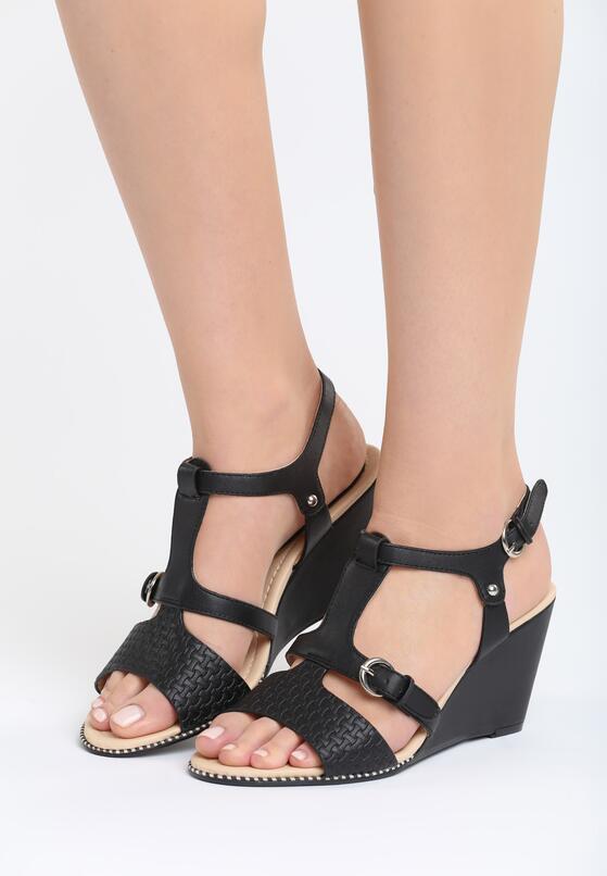 Czarne Sandały Fortune Teller