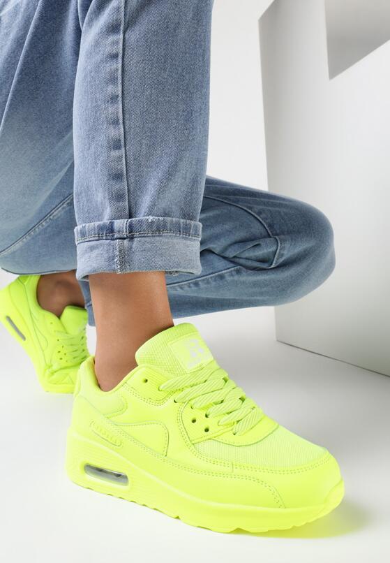Limonkowe Buty Sportowe Classical Nilda