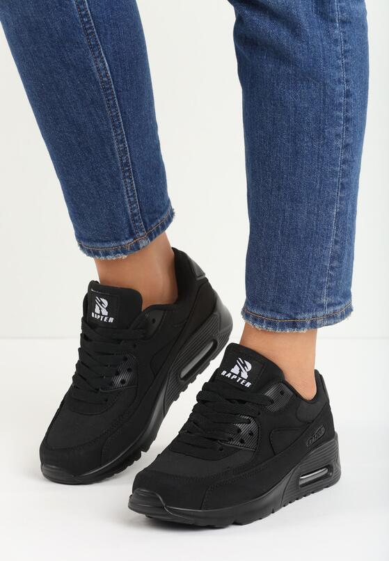 Czarne Buty Sportowe Vintage Nilda