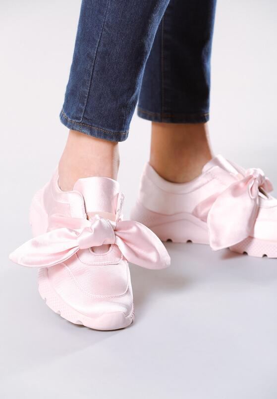 Jasnoróżowe Buty Sportowe Pinky Winky