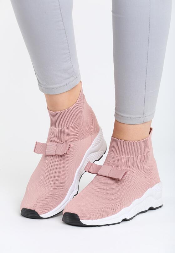 Różowe Buty Sportowe Bobby Socks