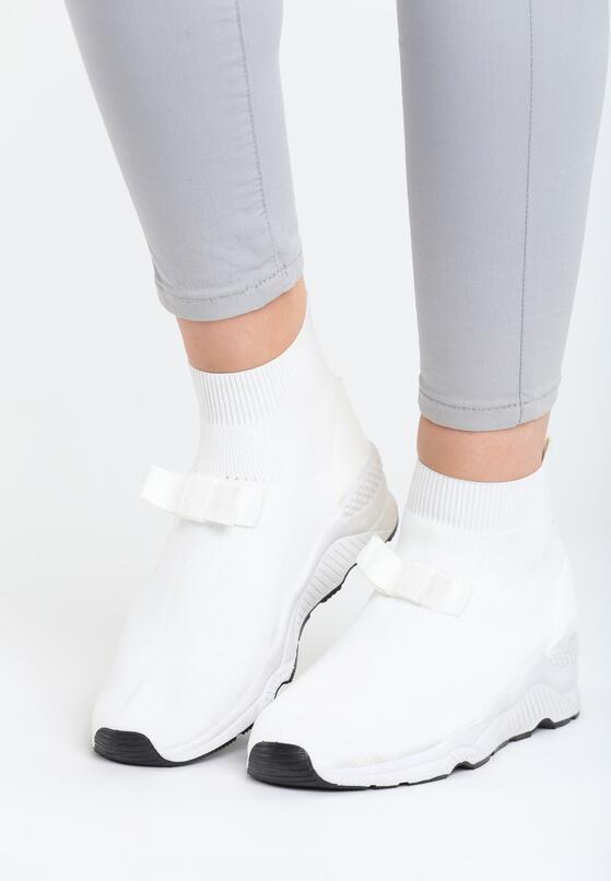 Białe Buty Sportowe Bobby Socks