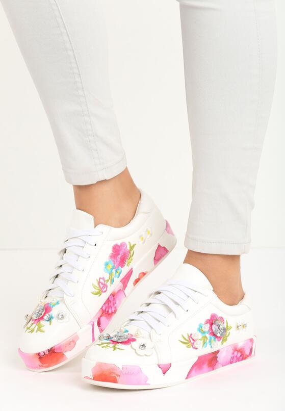 Biało-Różowe Buty Sportowe Rose Garden