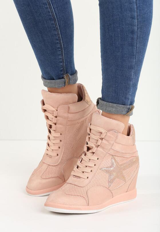 Różowe Sneakersy Star Turn