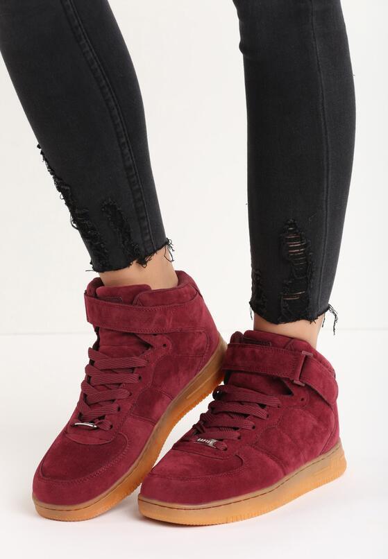 Bordowe Buty Sportowe Marcie
