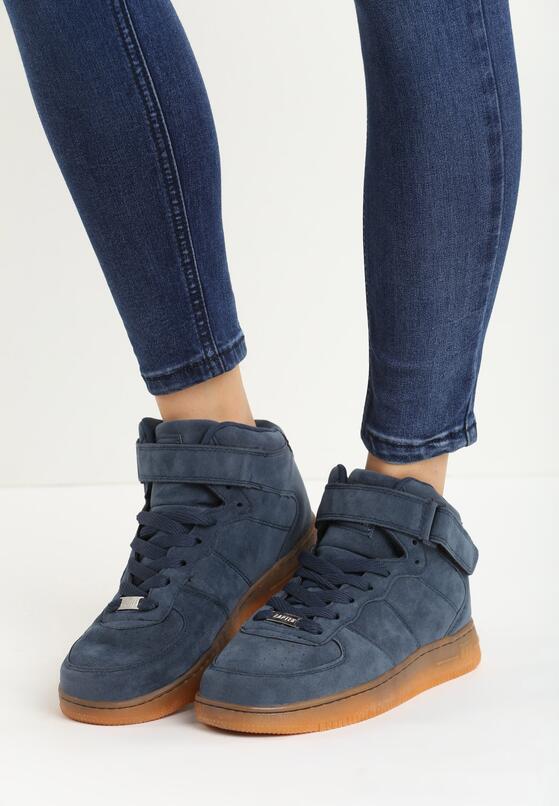 Granatowe Buty Sportowe Marcie
