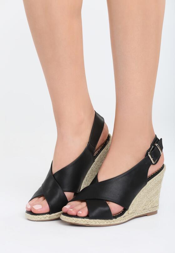 Czarne Sandały Inhale