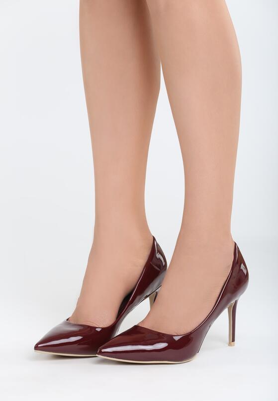 Bordowe Szpilki Killer Heels
