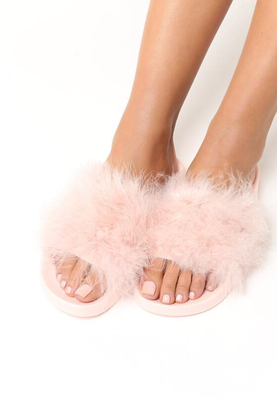 Różowe Klapki Plushie