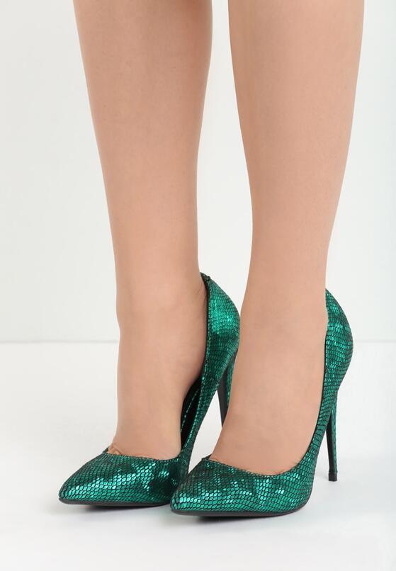 Zielone Szpilki Kick Up Heels