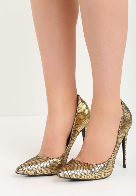Złote Szpilki Kick Up Heels