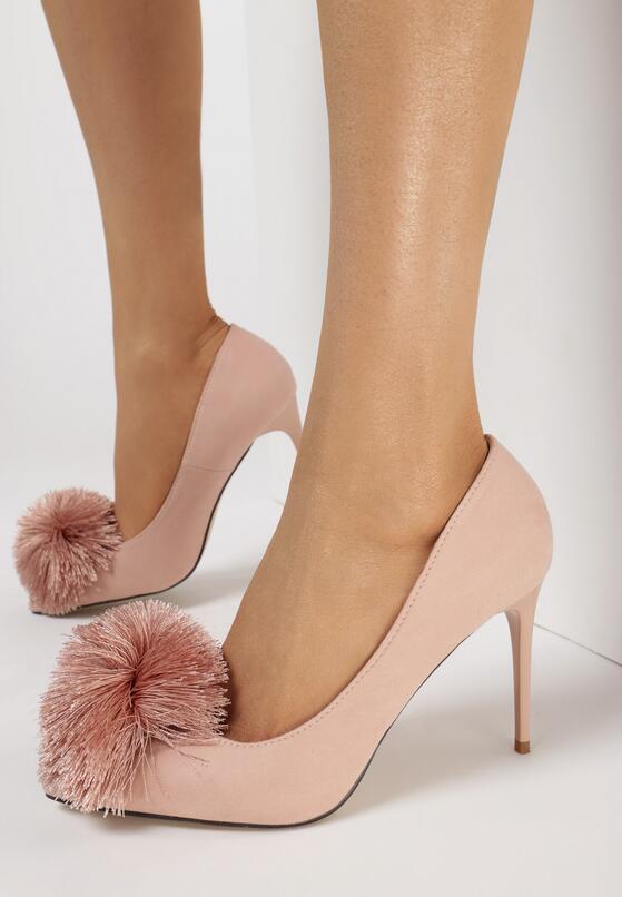 Różowe Szpilki Pompom Girl