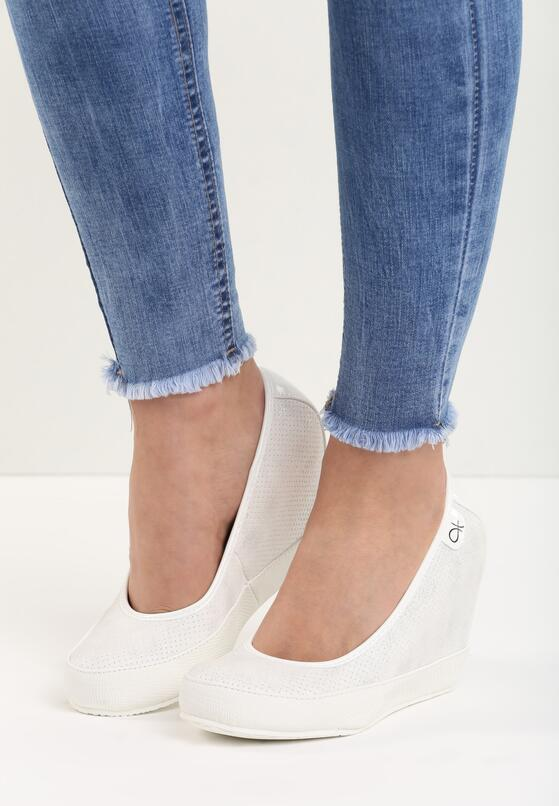 Białe Koturny Casual Step