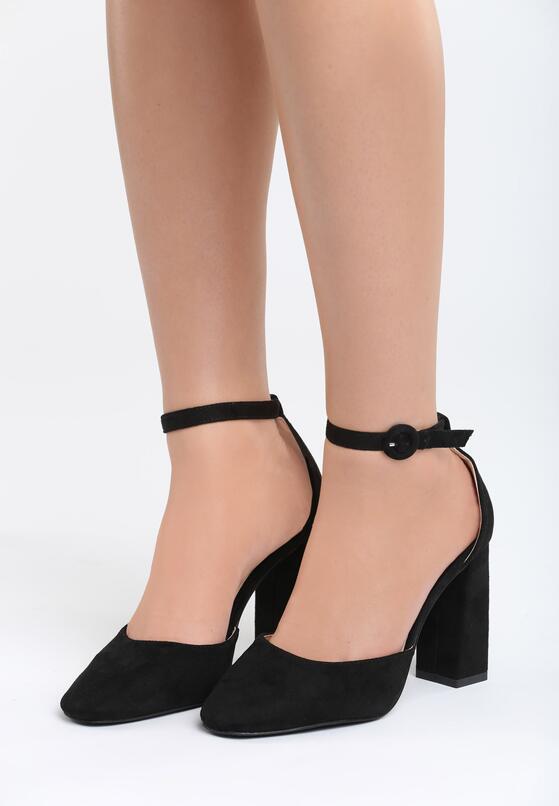 Czarne Sandały Grown Woman
