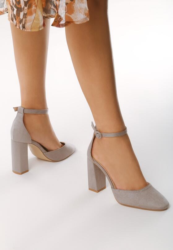 Szare Sandały Grown Woman