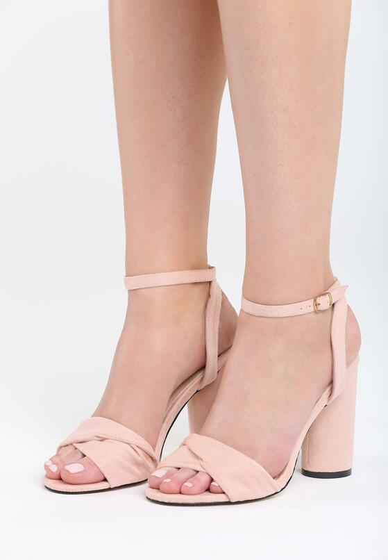 Różowe Sandały Optimistic