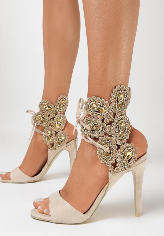 Beżowe Sandały Lovely Kiss