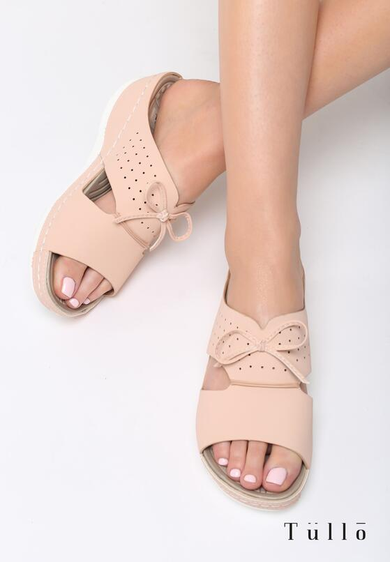 Różowe Klapki Charming Bows