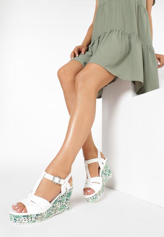 Biało-Zielone Sandały All I Ever Wanted