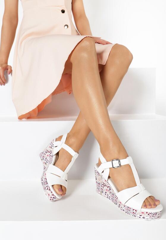Biało-Beżowe Sandały All I Ever Wanted
