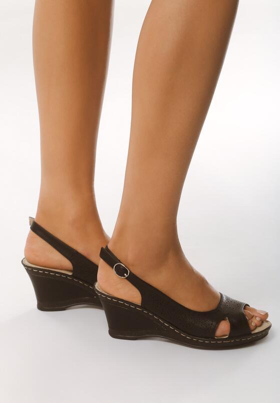 Czarne Sandały Front of Me