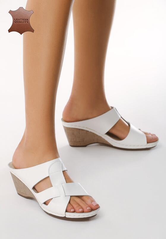 Białe Skórzane Sandały Beautiful Day