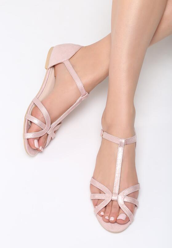 Różowe Sandały Fake Love