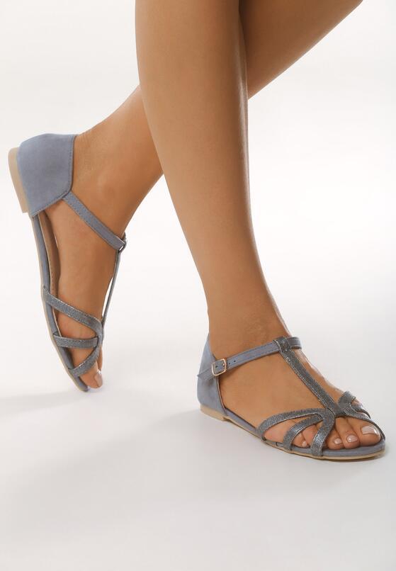 Niebieskie Sandały Fake Love