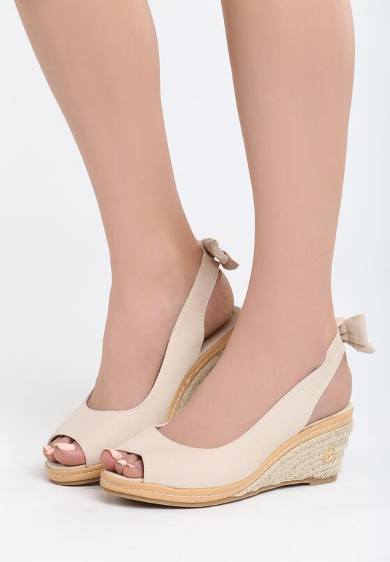 Beżowe Sandały Boredness