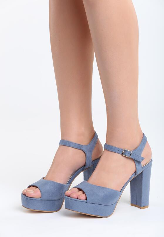 Niebieskie Sandały Stained