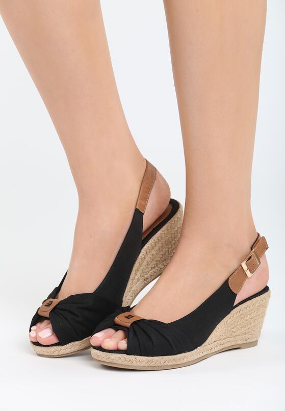 Czarne Sandały Stolen Moment