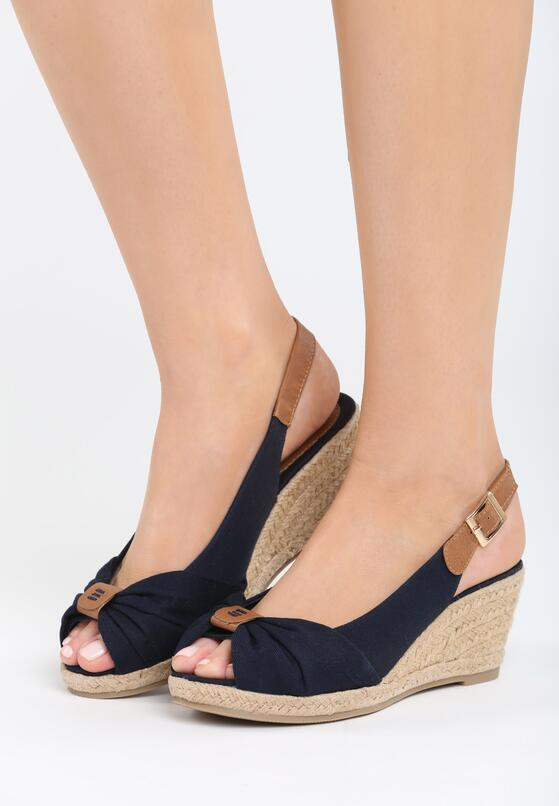 Granatowe Sandały Stolen Moment