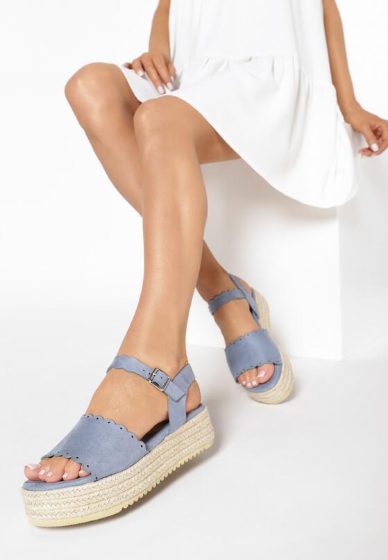 Niebieskie Sandały Stolen Heart